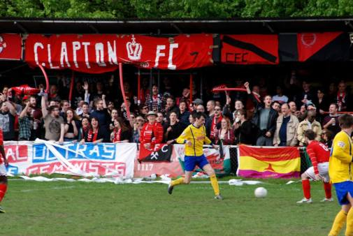 Clapton FC vs. FC Romania. Photo by Rich Bradley.