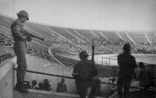 Estadio Nacional in Santiago - Used as a prison camp after the 1973 Coup d'État.