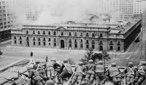 The bombardment of Allende's Presidential Palace.