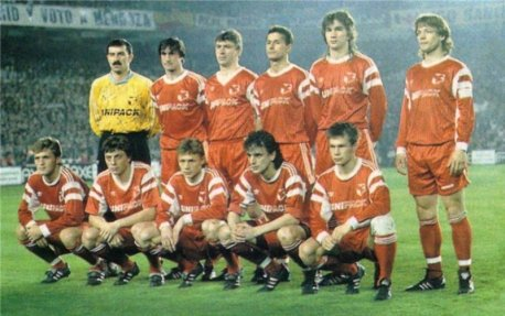 Spartak Moscow line-up in 1991. Popovitch is bottom-left while Ivanovic is back-row third from the right.