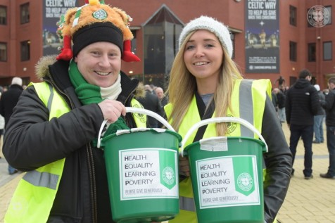 Collecting donations for the Celtic F.C. Foundation @CFCF