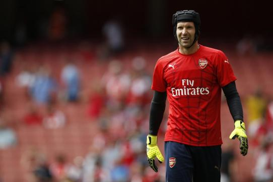 Petr Cech made the moved across London from Chelsea to Arsenal. Via Adrian Dennis/Getty Images