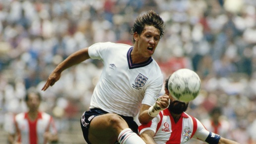 Gary Lineker in action for England during the 1986 World Cup @David Cannon