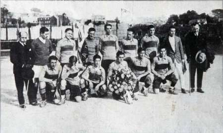 The Boca Juniors team that faced Celta Vigo in the first match of the tour on 5th March, 1925
