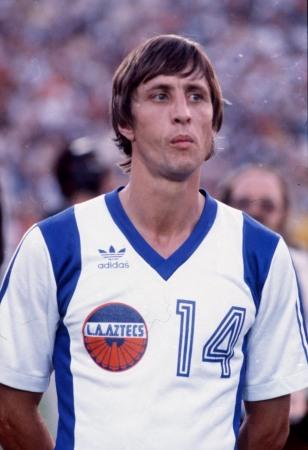 Johan Cruyff in the LA Aztecs colours