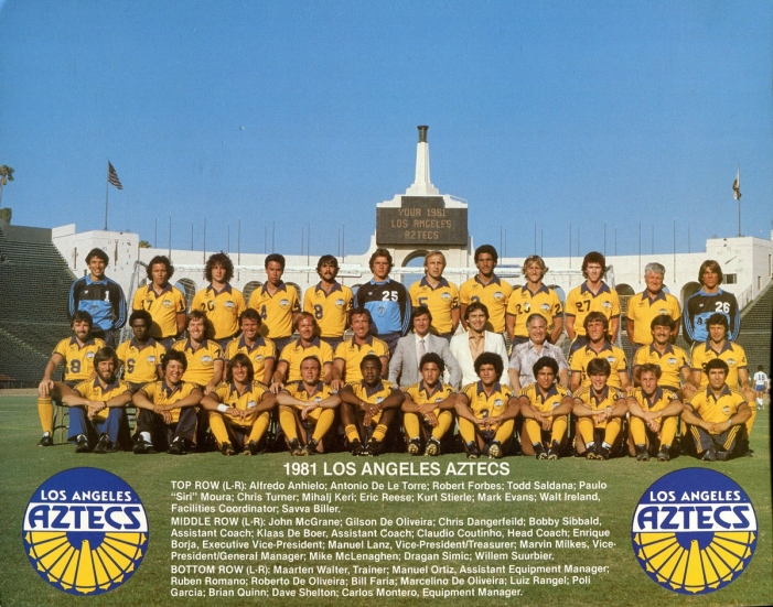 The last LA Aztecs team photo in 1981