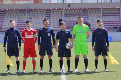 Lining up before an unfortunate 3-2 defeat by Selenge Press in the Mongolian Premier Legaue.