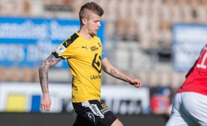 Petteri Pennanen in action for KuPS. @ Jussi Eskola