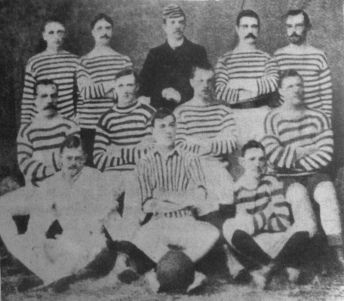 The St. Andrew's team that were the joint winners of the first Argentinian League