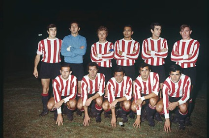 The Estudiantes team that won the 1968 Copa Libertadores
